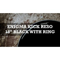 "Enigma Kick Reso With Dampening Ring 18"" Br Black With Ring"
