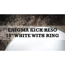 "Enigma Kick Reso With Dampening Ring 18"" Wr White With Ring"